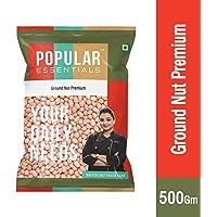 Popular Essentials Premium Raw Ground Nut, 500g