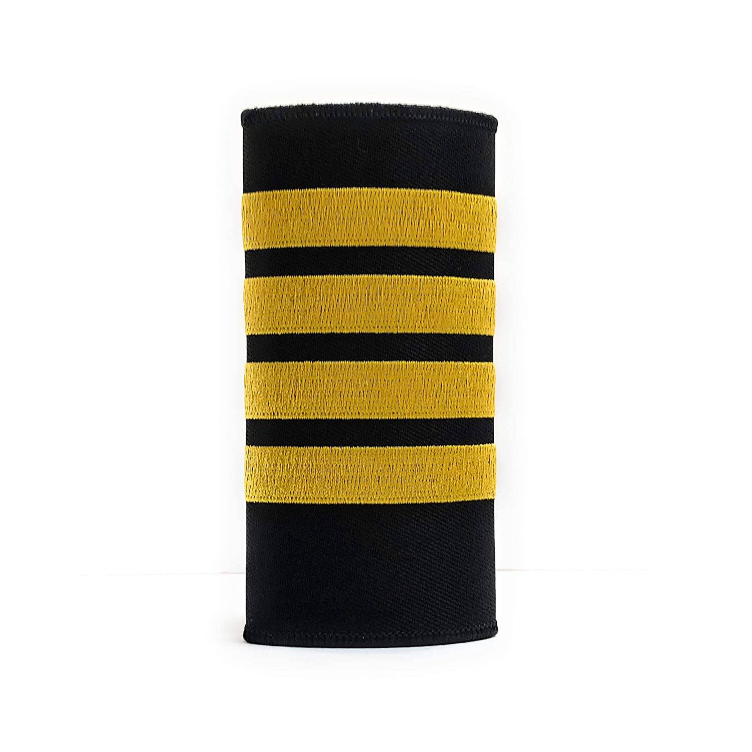 High Quality Captain Luggage Handle Wrap with 4 Gold Stripes aviamart/®