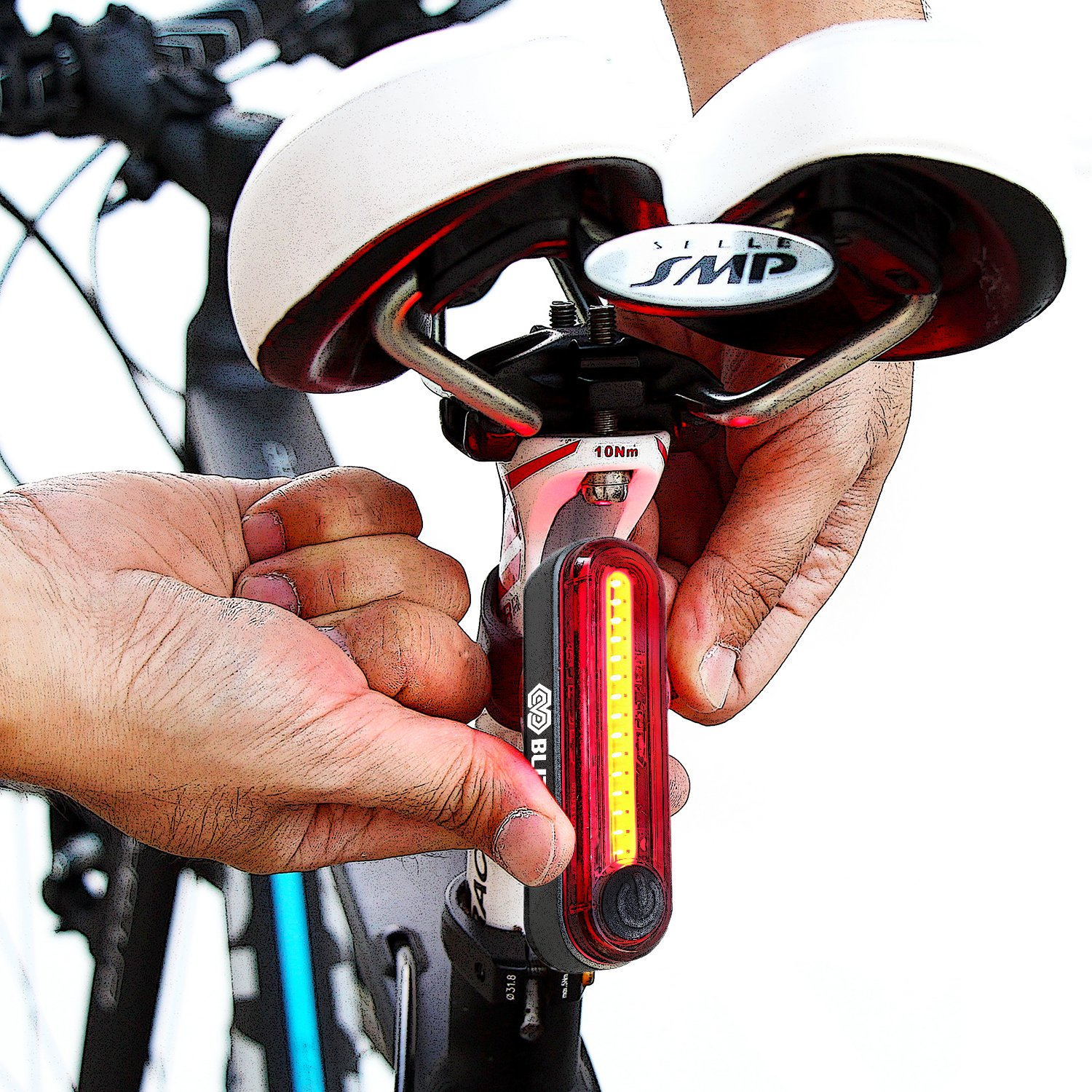 BLITZU Gator 380 USB Rechargeable Bike Light Set POWERFUL Lumens Bicycle Headlight FREE TAIL LIGHT, LED Front and Back Rear Lights Easy To Install for Kids Men Women Road Cycling Safety Flashlight by BLITZU (Image #9)