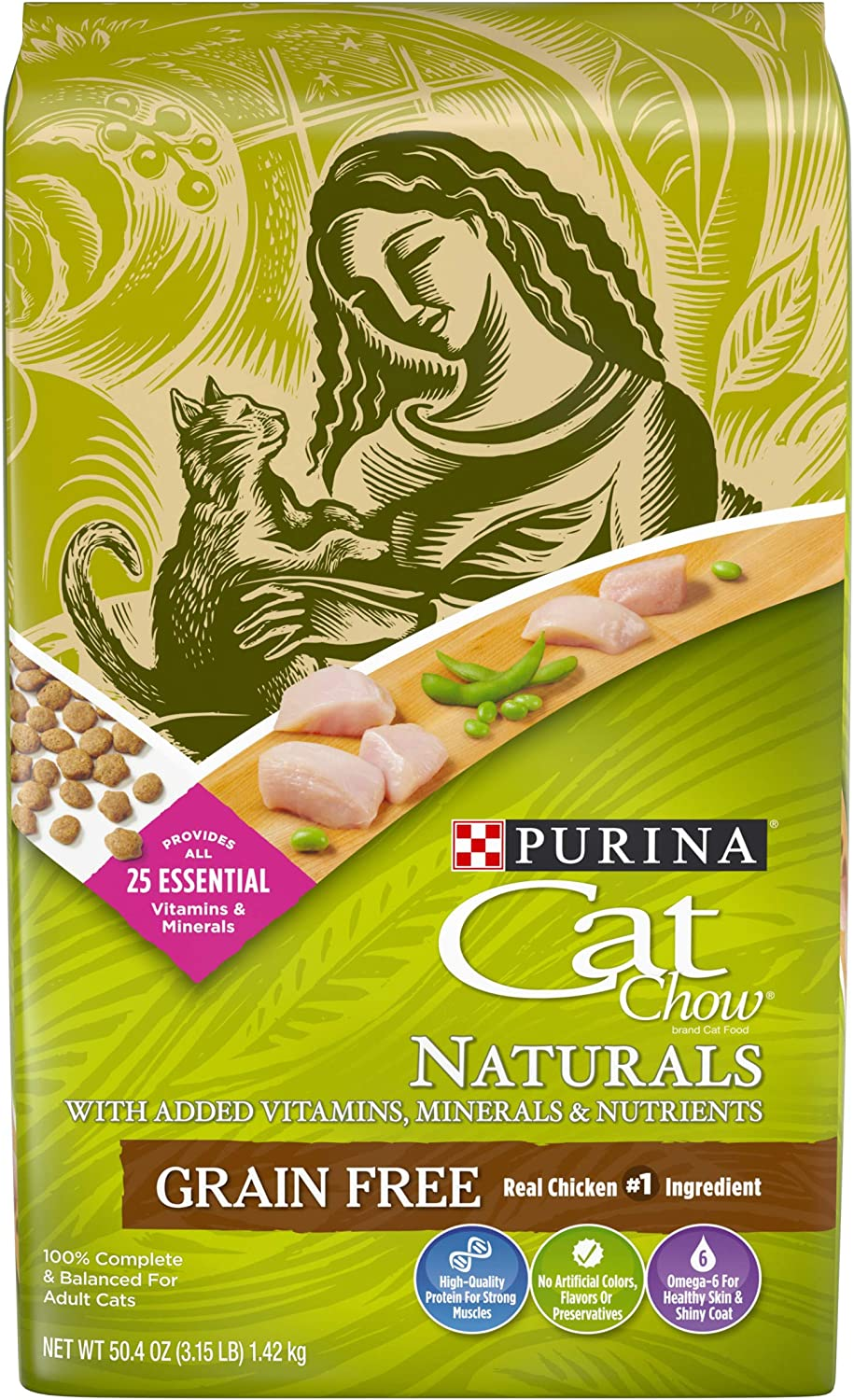 Purina Cat Chow Naturals Grain-Free with Real Chicken Adult Dry Cat Food