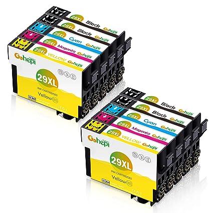 Gohepi 10 Multipack 29 XL Alta Capacidad Cartuchos de tinta ...