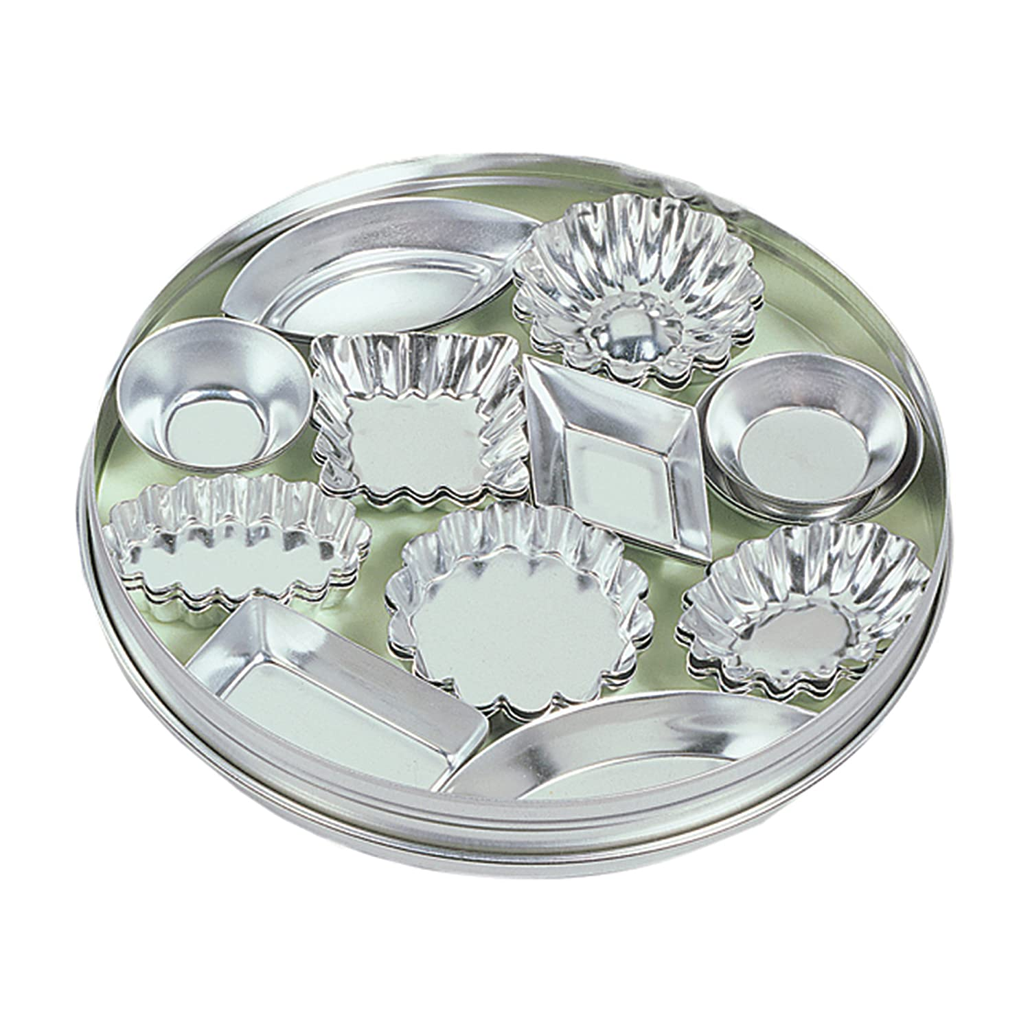 Fox Run 3620 Mini Tartlet Set, Tin Plated Steel, 36-Piece 3620COM