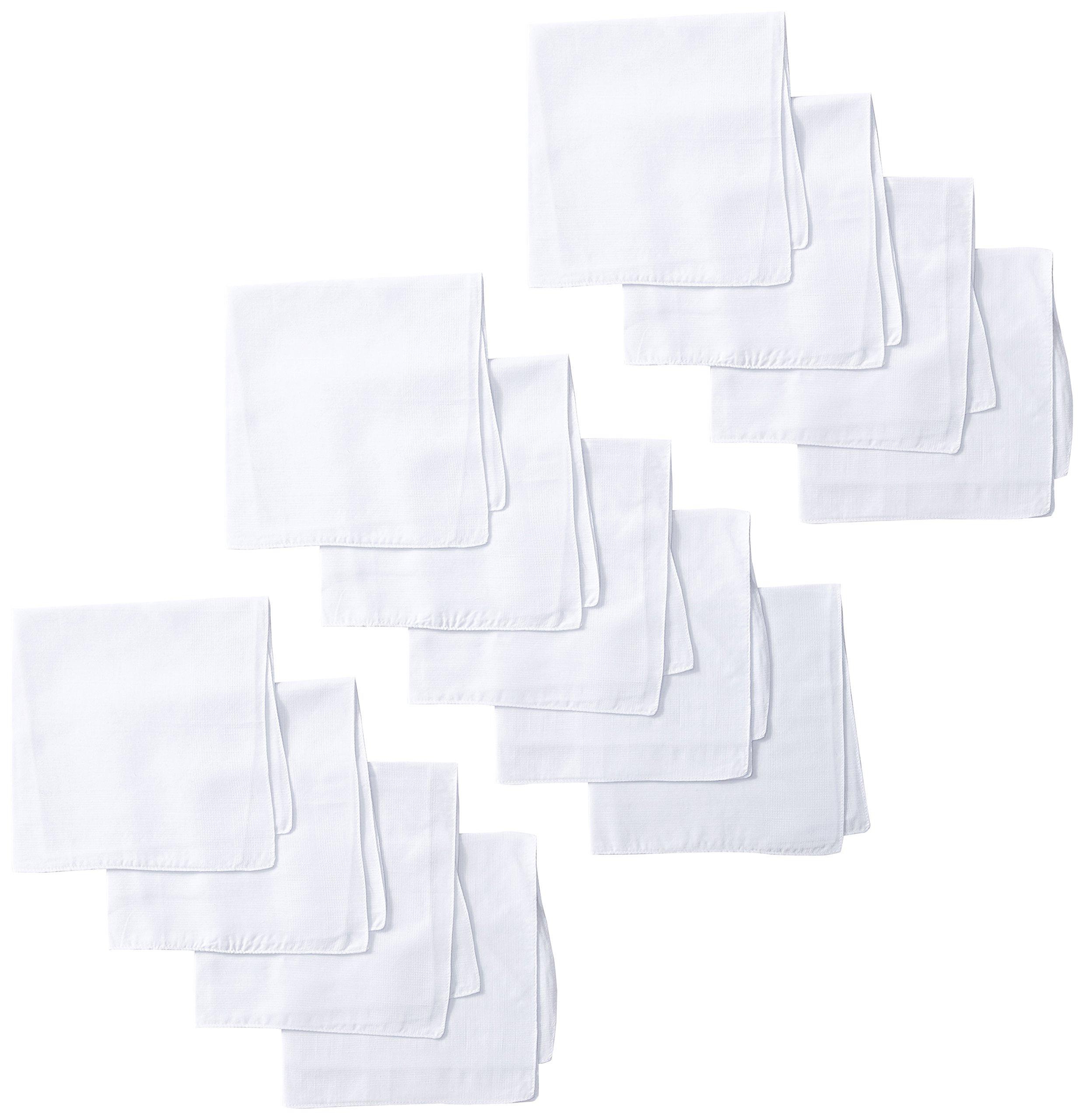 Dockers Men's 13 Piece Permanent Press Hankies,White,One Size