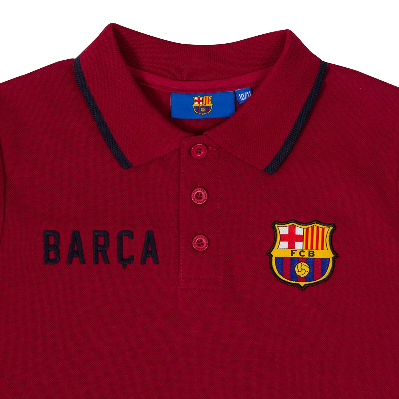 78a8852822 FC Barcelona - Polo oficial para hombre - Con el escudo del club - Azul  marino