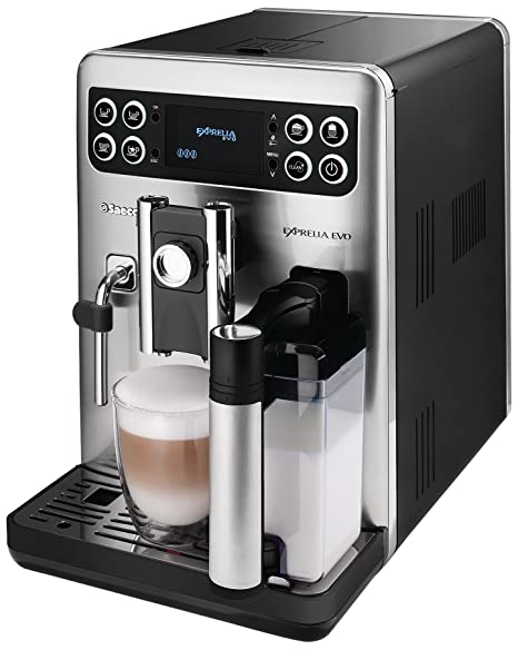 Saeco HD8855/01 - Máquina de café Exprelia Evo Class, color negro, acero