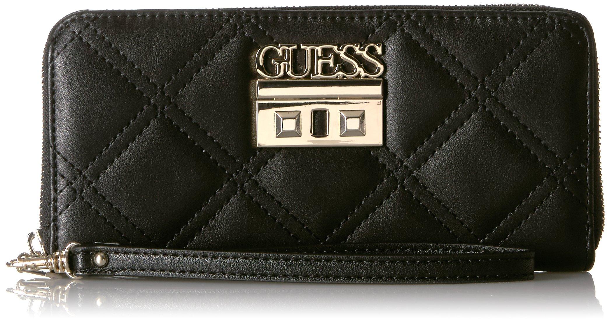 GUESS Status Large Zip Around Wallet Black