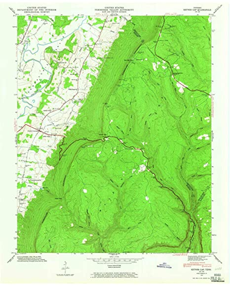 Amazon.com : YellowMaps Ketner Gap TN topo map, 1:24000 ...