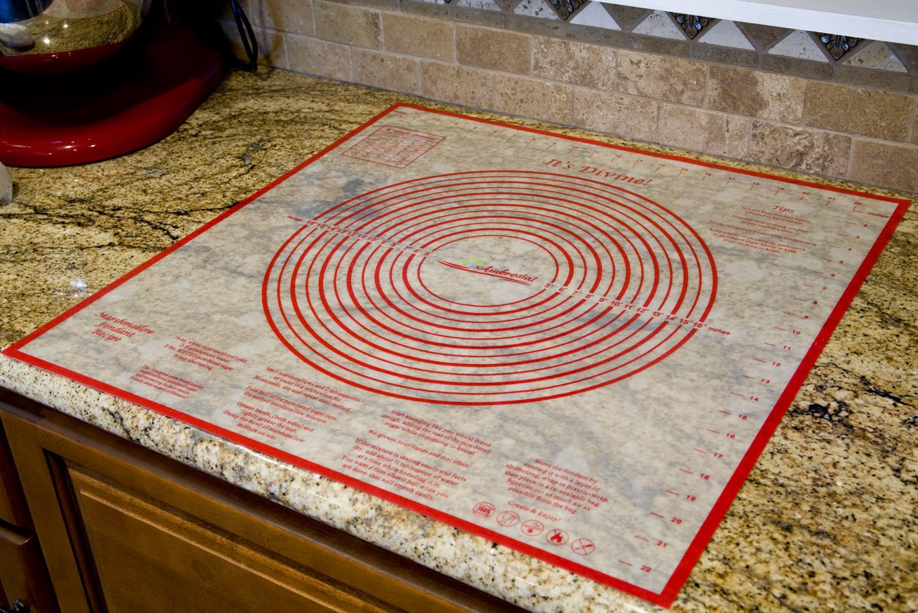 Ambrosial Pastry and Dough Mat, Extra-Large 24 Inch by 24 Inch, A Military Spouse Owned Company by Ambrosial (Image #2)