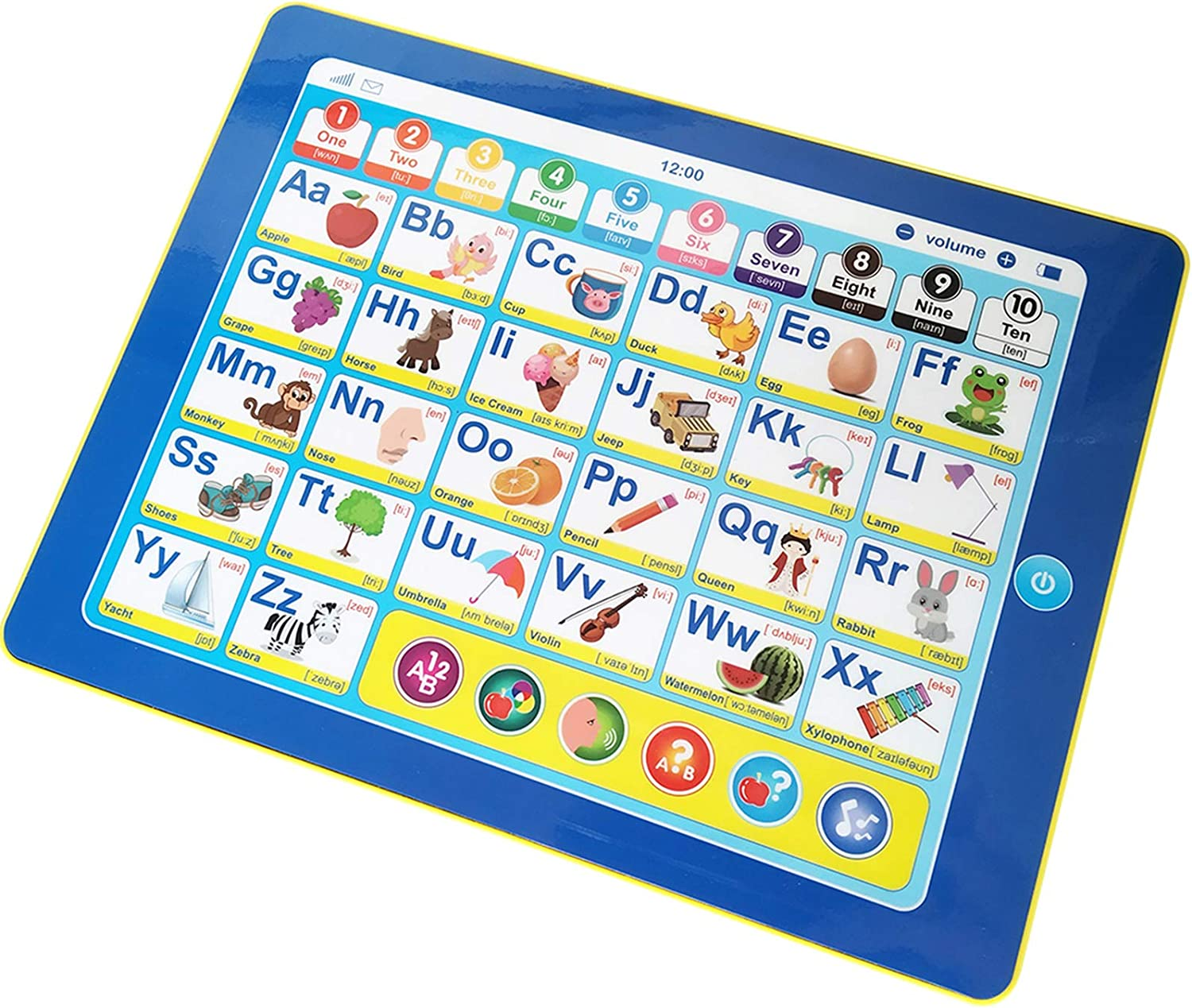 Electronic Interactive Learning Tablet,6 Game for Toddler,Touch and Learn Words,ABC,Numbers,Music and Colors,Educational Toy at Daycare, Preschool, Kindergarten