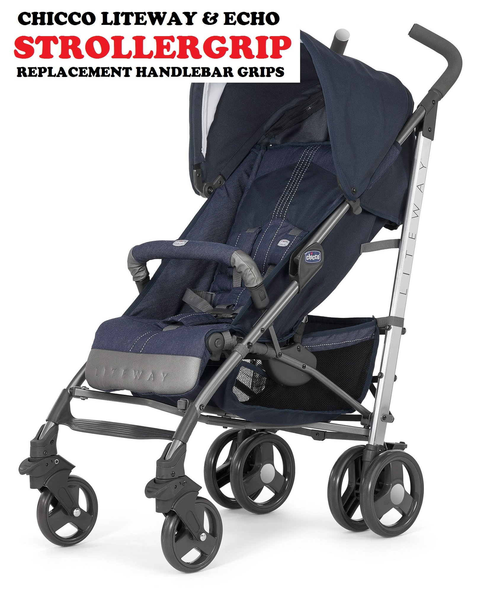 Amazon.com : Choopie Stroller Grip Covers, Just Black