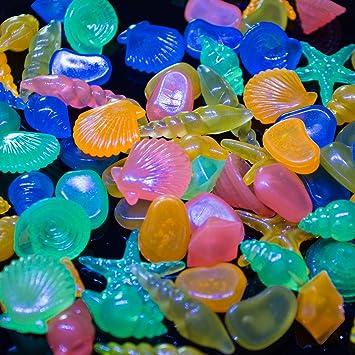 Glow piedras, govine 60pcs colores Pebble caracola en la oscuridad para peces de acuario tanque: Amazon.es: Productos para mascotas