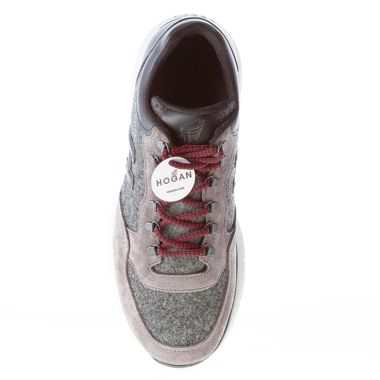 Hogan Uomo Sneaker T 2015 in camoscio e Feltro Grigio più Pelle Nera  Amazon .it  Scarpe e borse 9d9dcc40585