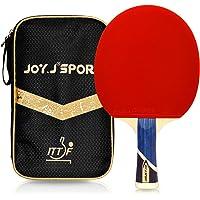 Joy.J Sport - Raqueta de ping-pong profesional con funda, pala TT con goma aprobada por la ITTF, perfecto para…
