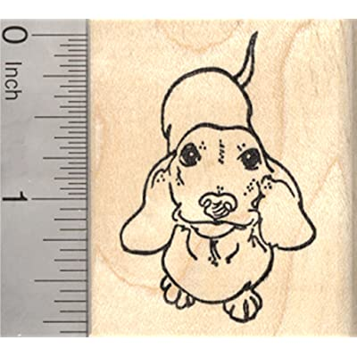 Dachshund Rubber Stamp, Weiner Dog: Arts, Crafts & Sewing