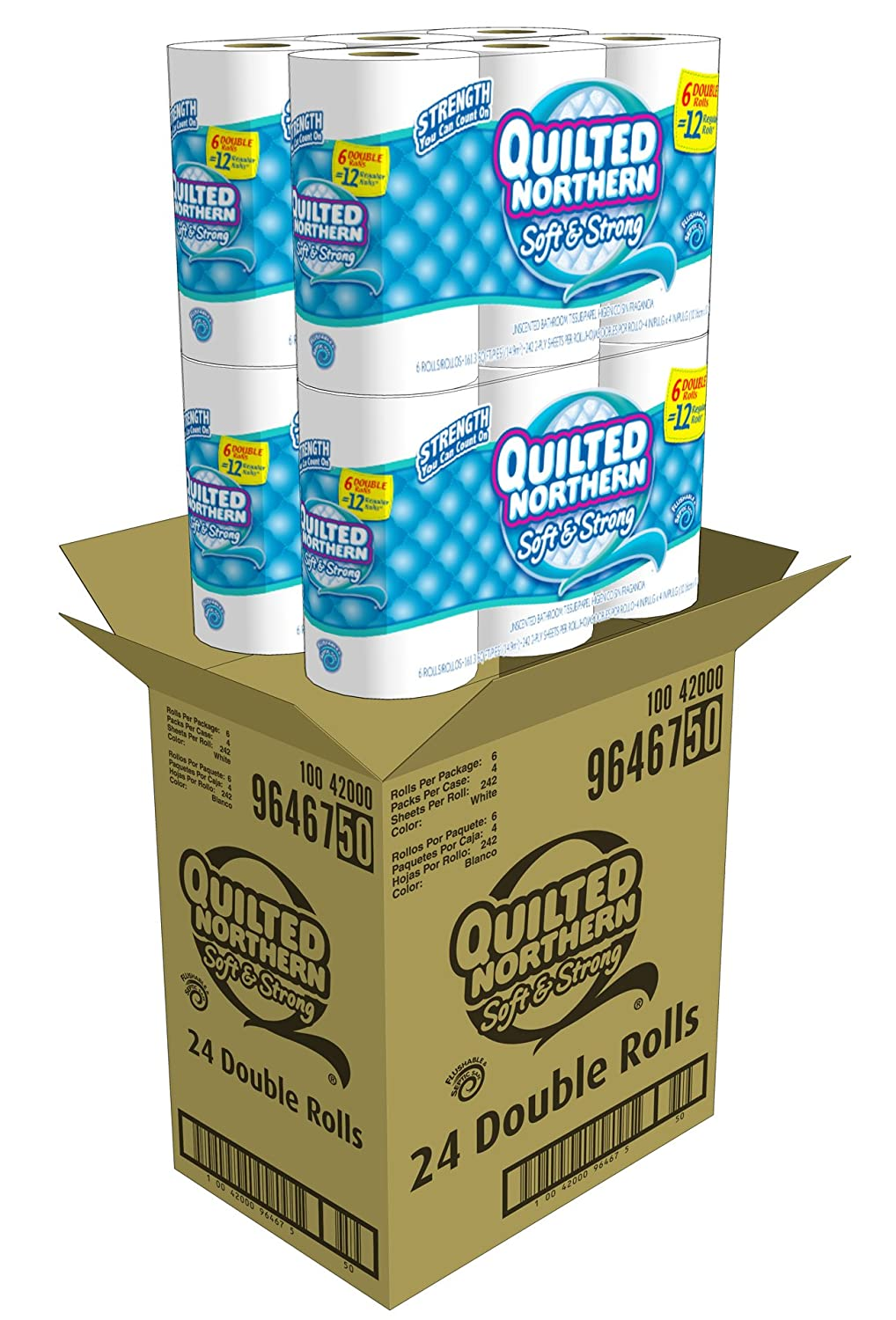 Amazon.com: Quilted Northern Soft and Strong Bath Tissue, 48 ...