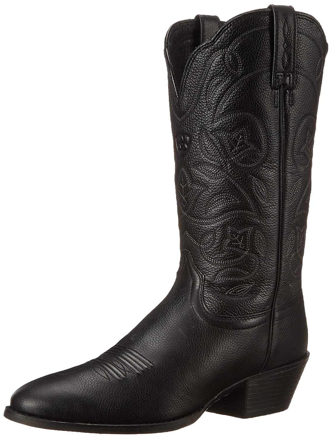 Ariat Women's Heritage Western R Toe Western Cowboy Boot B000EM186Y 6 B(M) US|Black Deer Tan