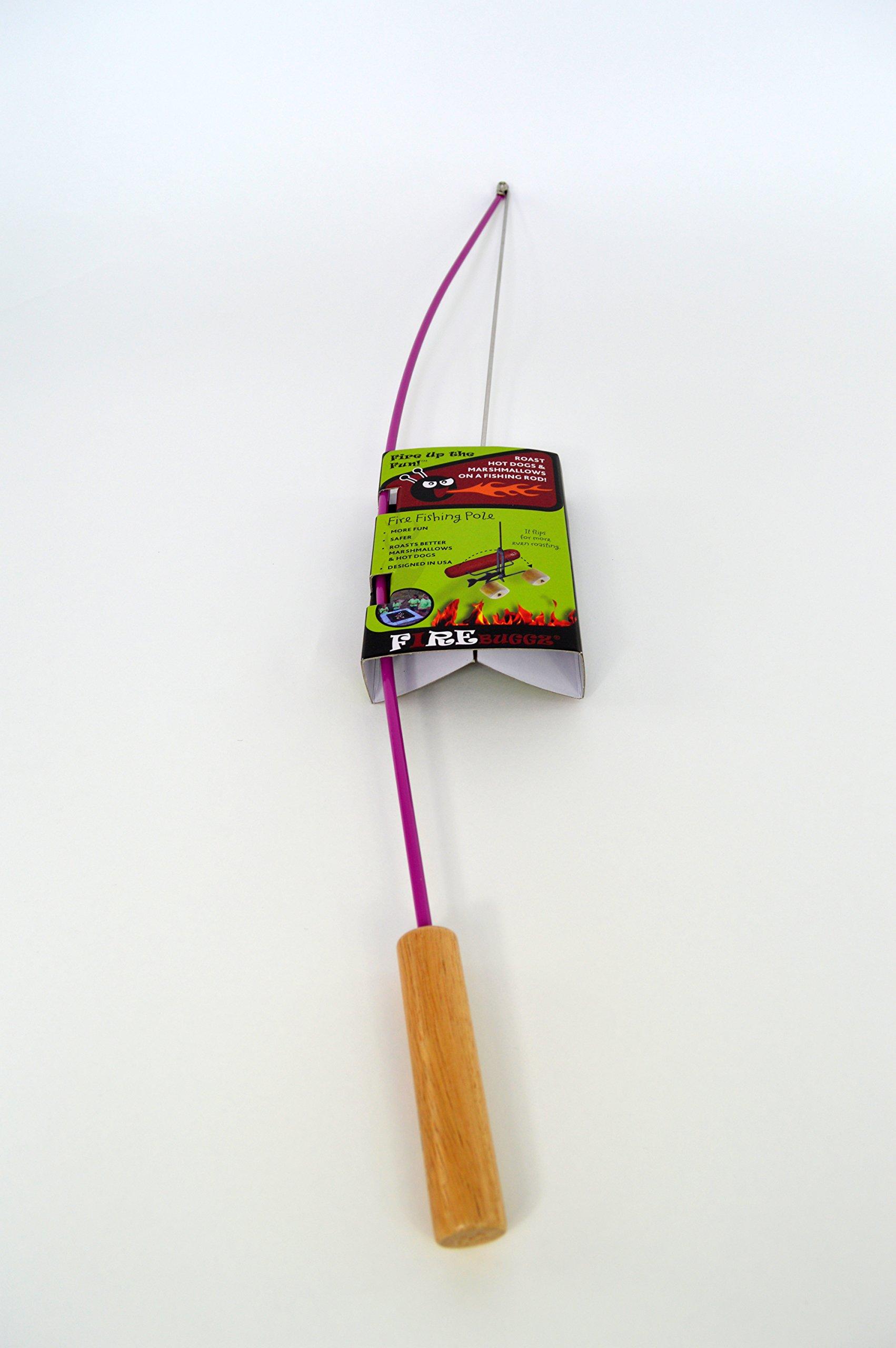 Fire Buggz Fishing Pole Campfire Roaster (Purple)