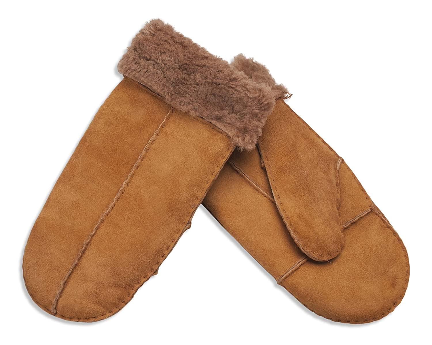 Nordvek Child / Teen Genuine Sheepskin Mittens - Suitable for Ages 10-16 Years - 326-100