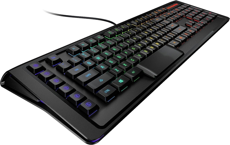 SteelSeries Apex M800 - Teclado Gaming, mecánico, iluminación RGB LED per-Key, 6 Teclas Macro, bajo Perfil, (PC/Mac) - disposición UK