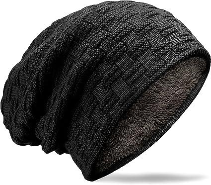 MUCO Gorros Hombre Mujer Unisex Invierno Cálido Sombreros de Punto ...