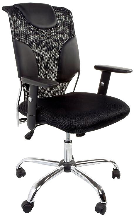 Tomasucci Fashion Office Chair, Microfiber, Black