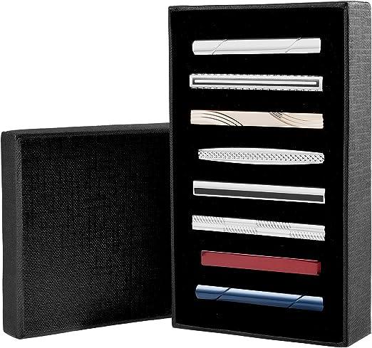 Cizen Clip de Corbata para Hombres (8 PCS), Clásico Conjunto de ...