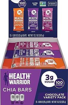 15-Count Health Warrior Chia 25g Bars
