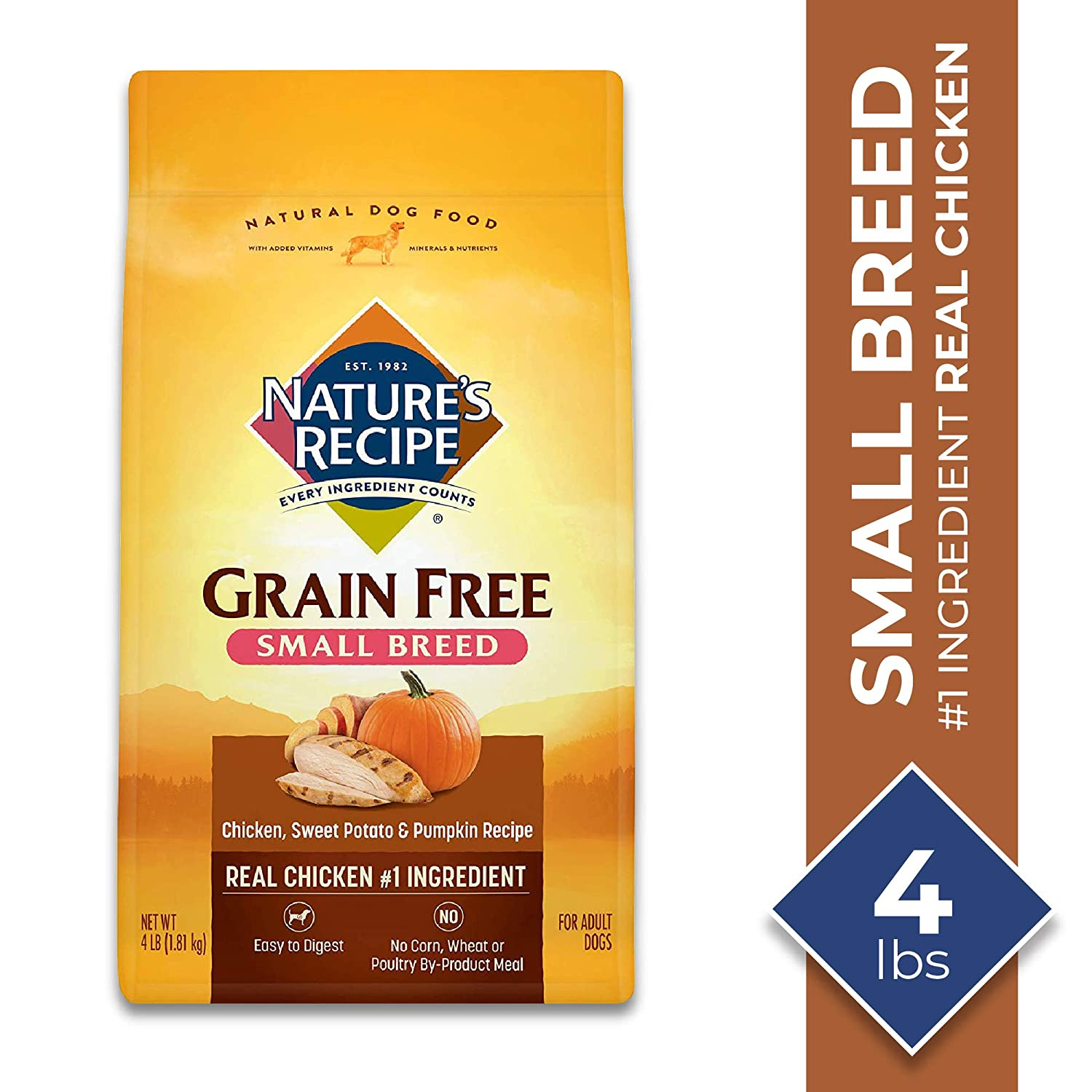 4.Nature's Recipe Small Breed Grain-Free Dry Dog Food