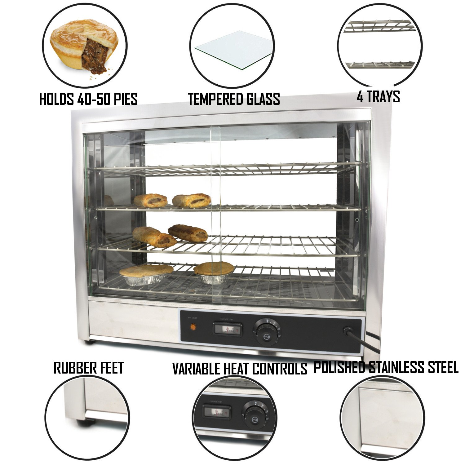 a129f875d0e Chef-Hub Commercial Electric Counter Top Heated Glass Display ...