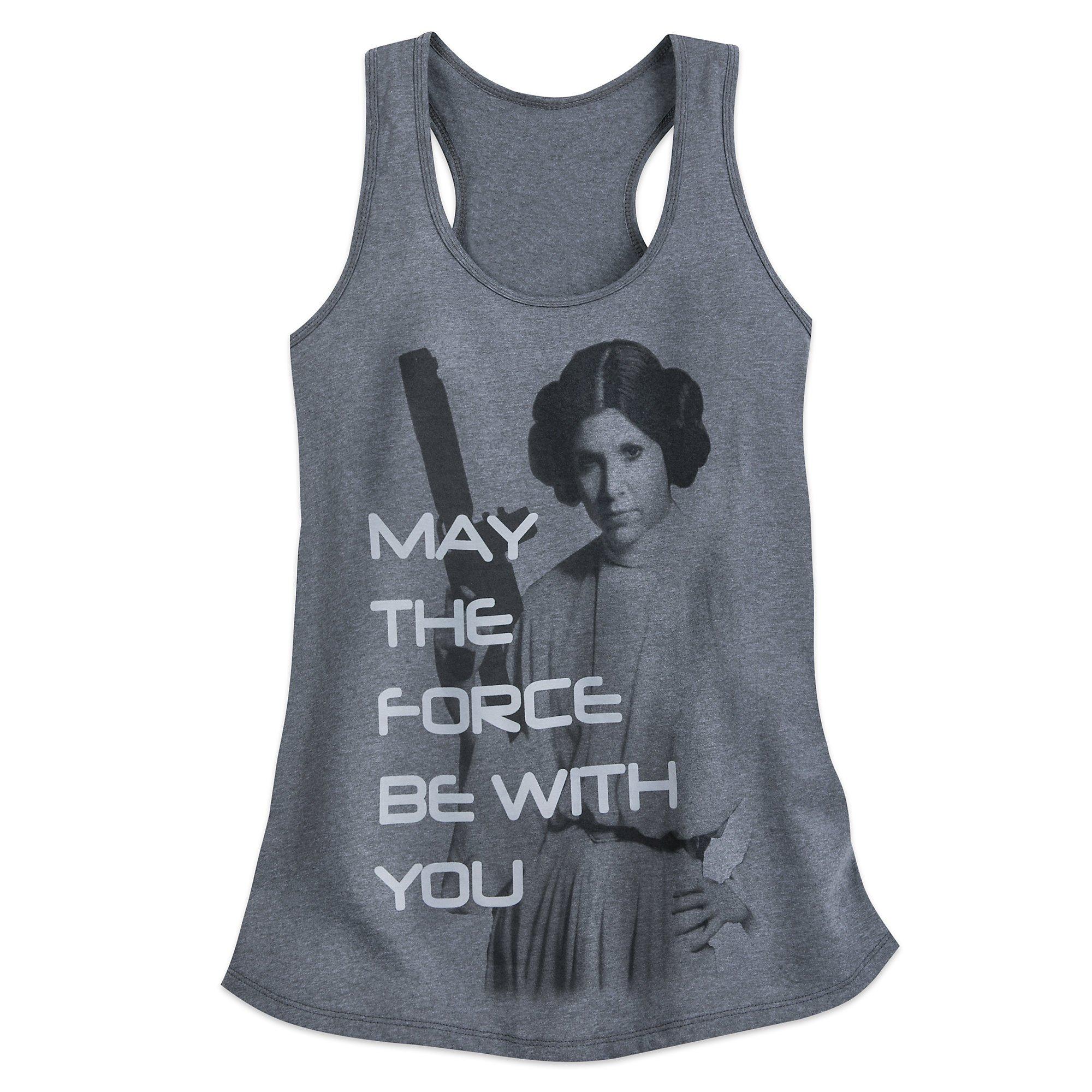 Star Wars SW-TNK-MAY4TH-LEIA-L-S18 Size Ladies XL Gray 456207389125
