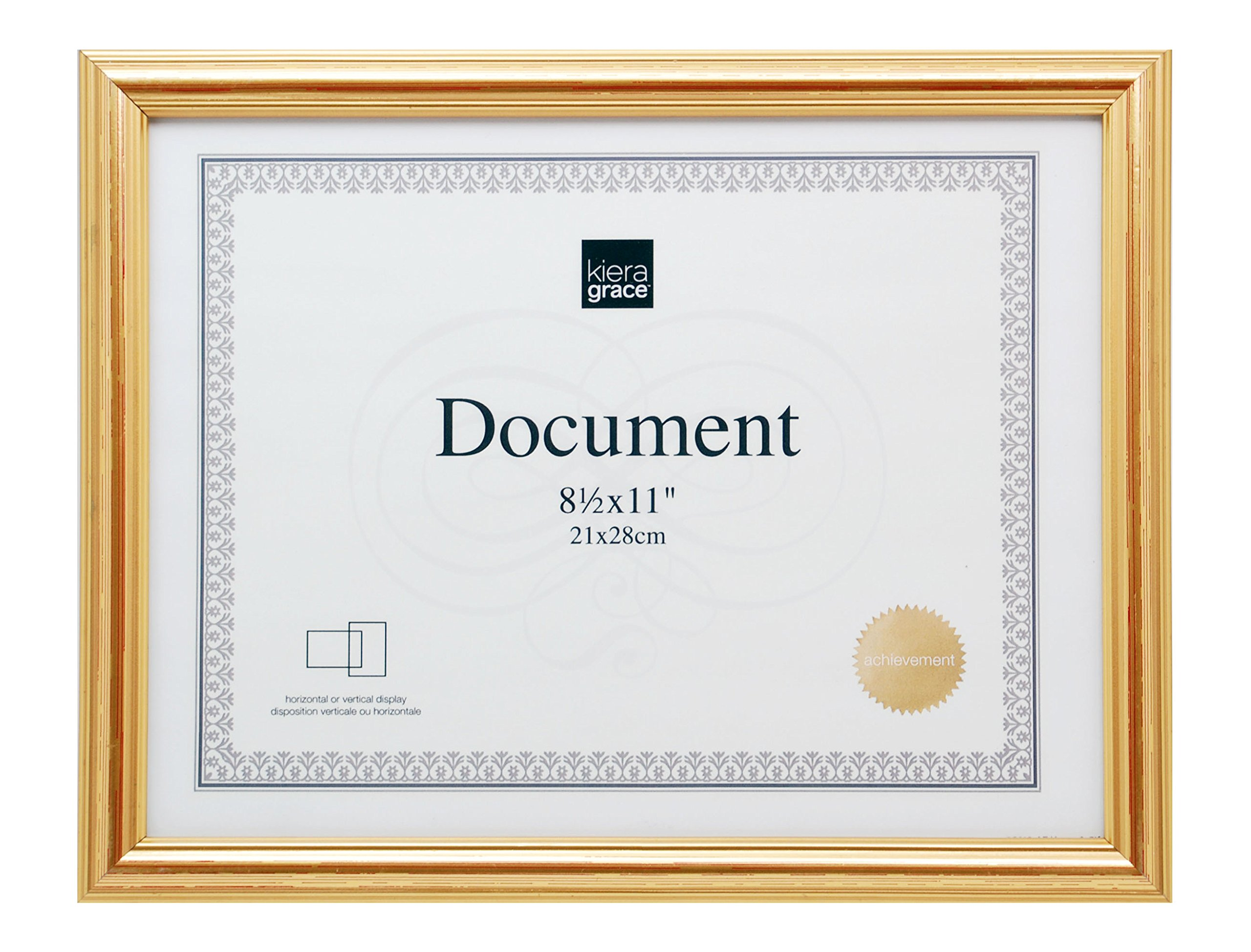 kieragrace Kiera Grace Presley Document Frame 8.5 by 11-Inch Gold