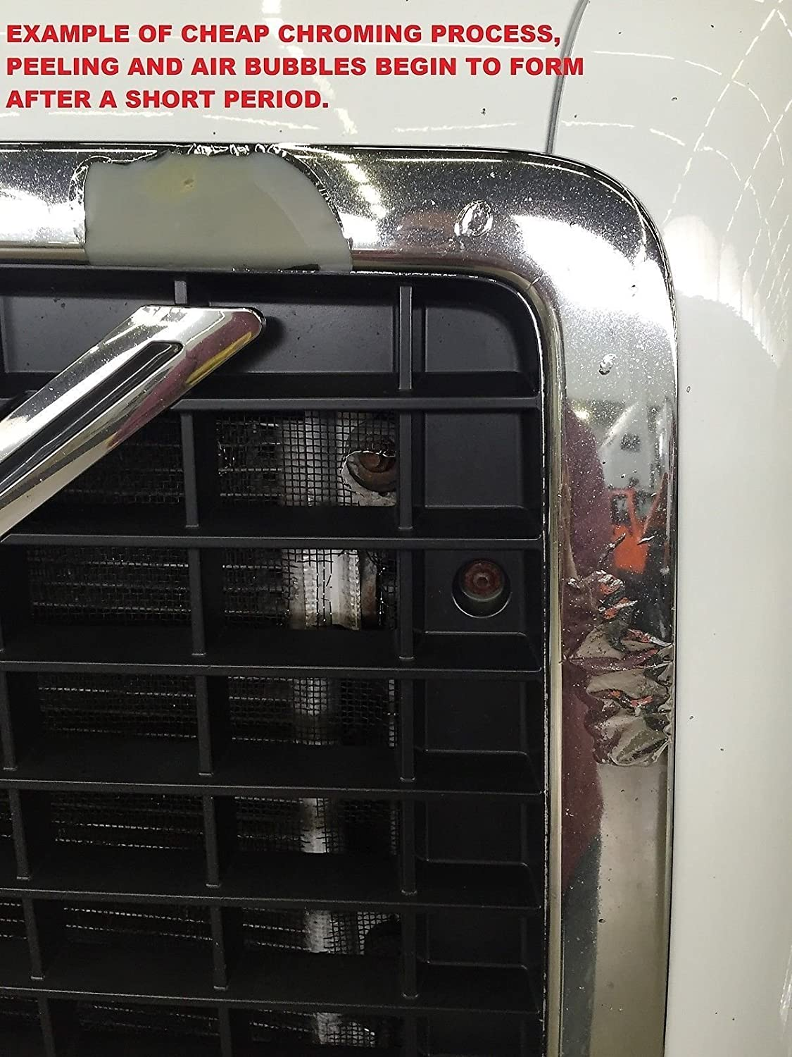 Freightliner Columbia Front Chrome Grille Freight Liner Grill with Bug Screen