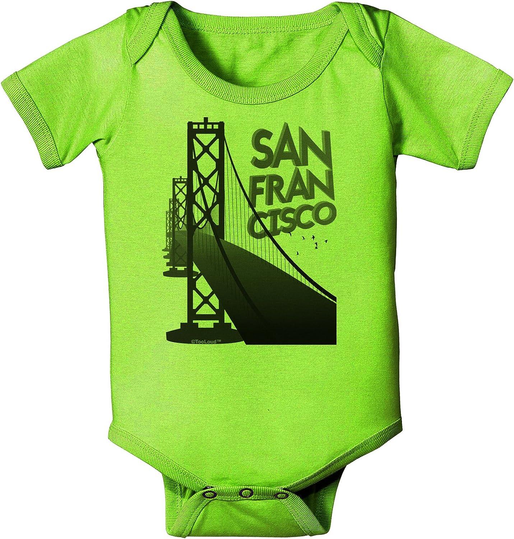 San Francisco Baby Romper Bodysuit TooLoud Bay Bridge Cutout Design