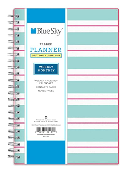 amazon com blue sky 2017 2018 academic year weekly monthly