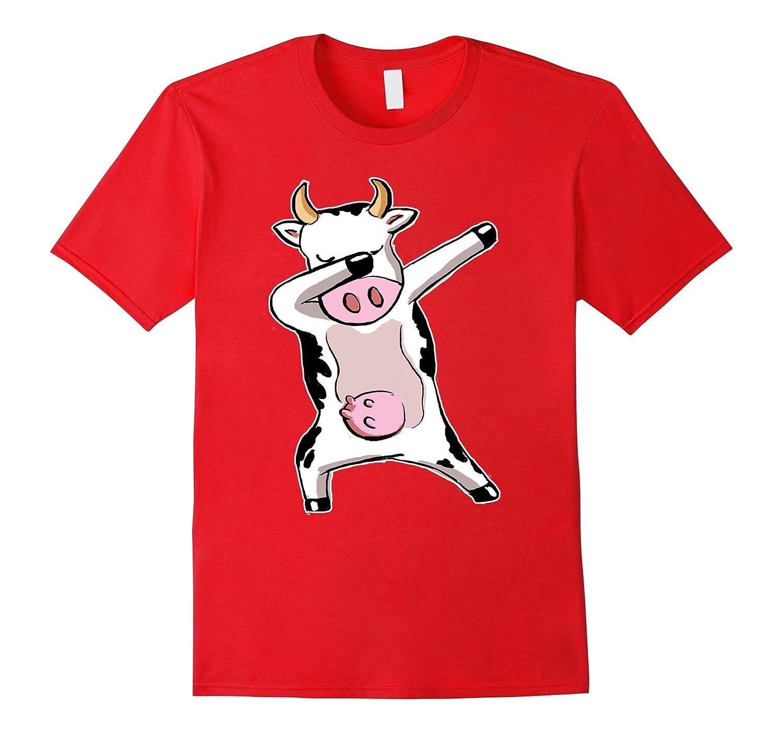 Cool Cute Funny Dabbing Cow Farmer Gift Shirts-Art