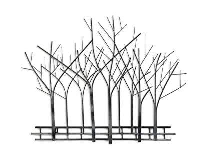 Decorshore Winter Trees Perspective Wall Sculpture Contemporary Wall Art