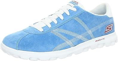 Administración difícil Miseria  Skechers Performance - Zapatillas de deporte de piel para mujer, Azul (Blau  (Blw)), 35.5: Amazon.es: Zapatos y complementos