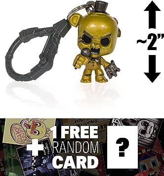 Golden Freddy (Color metálico): 5 Noches en la minifigura de Freddy + 1 Paquete de Tarjetas Oficiales de FNAF (Rare) (098576): Amazon.es: Juguetes y juegos