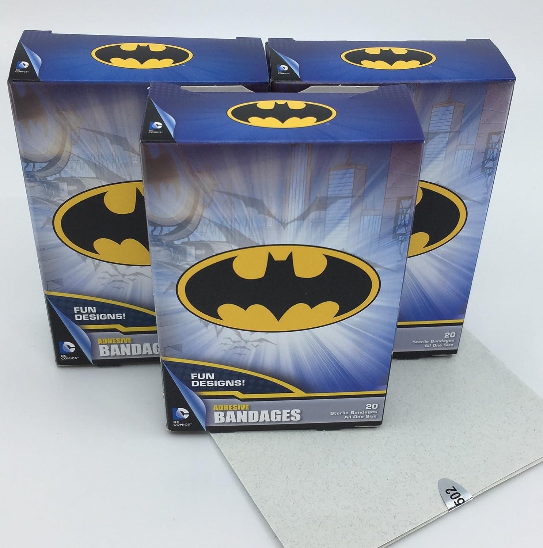 Bandas adhesivas DC Comics sin látex de Batman, 20 por caja (paquete de 3) 60 vendas en total más una colección gratuita de Super Heros Kids Jokes: Amazon.es: Salud y cuidado personal