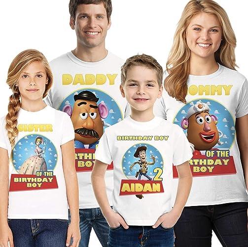 92675feada4a8 Amazon.com: Toy Story Birthday Shirt Personalize shirt, Toy Story ...