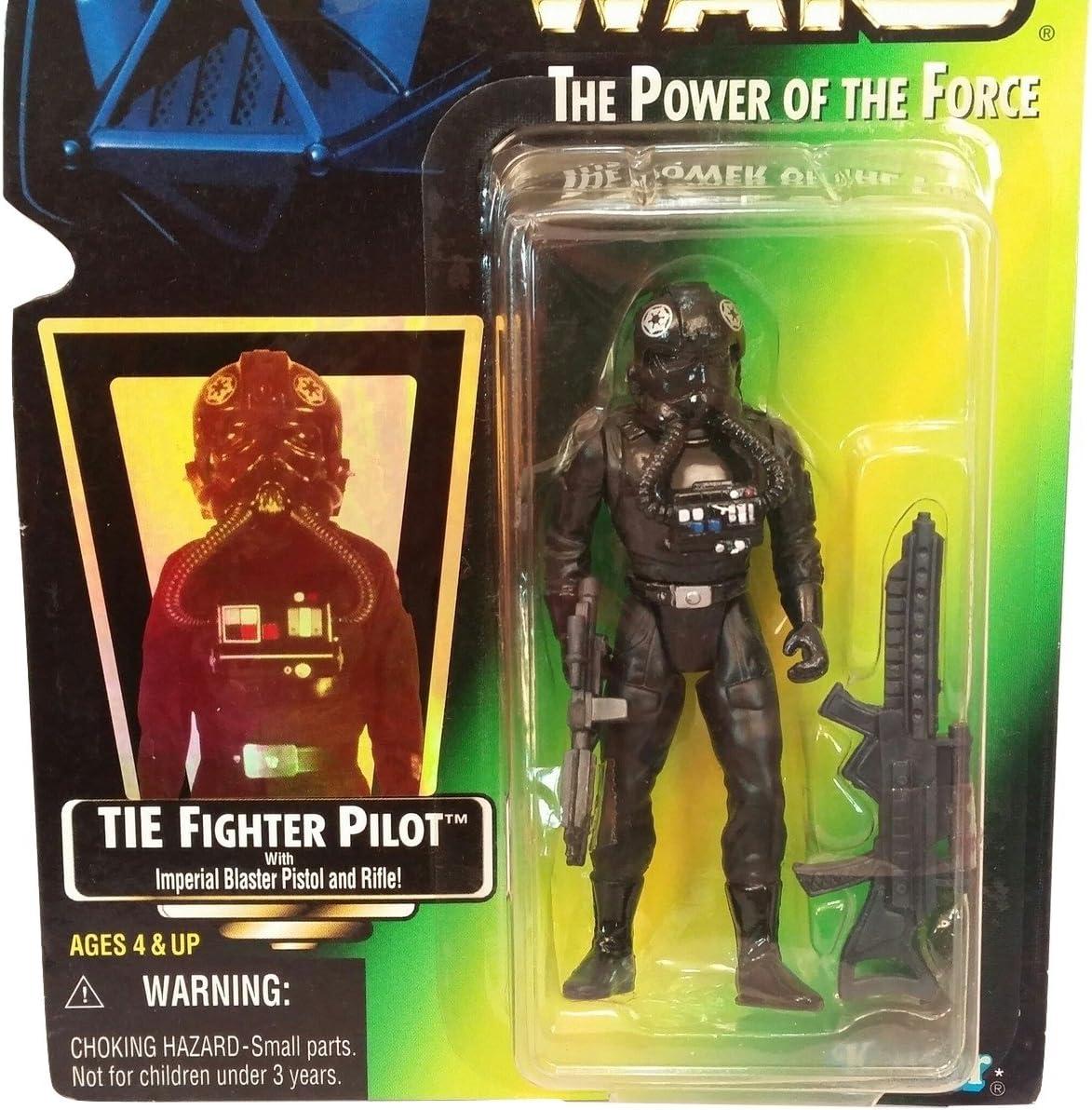 Vintage Star Wars Figure Tie Fighter Pilot Original Gun Blaster
