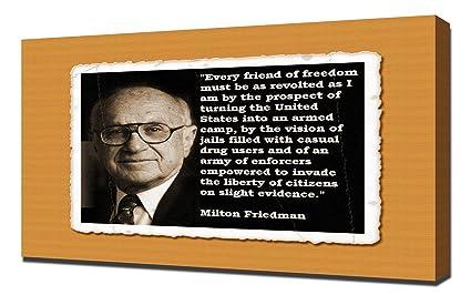 Amazoncom Milton Friedman Quotes 41 Canvas Art Print