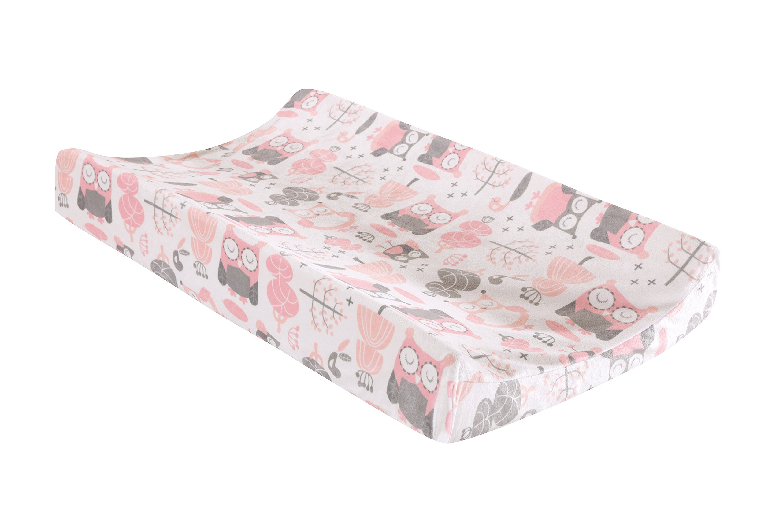 Levtex Home Baby Night Owl Changing Pad Cover, Pink