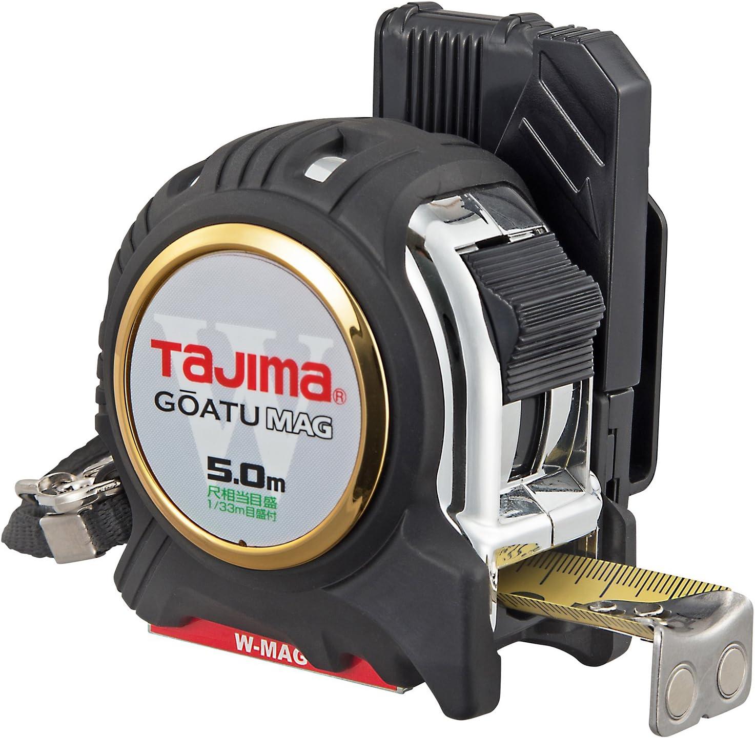 タジマ(Tajima) コンベックス 剛厚セフGロックダブルマグ25 5.0m 25mm幅 尺相当目盛付 GASFGLWM2550S