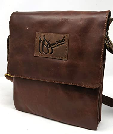 MCuero Leather Brown shoulder bag Briefcases Bags Sling bags