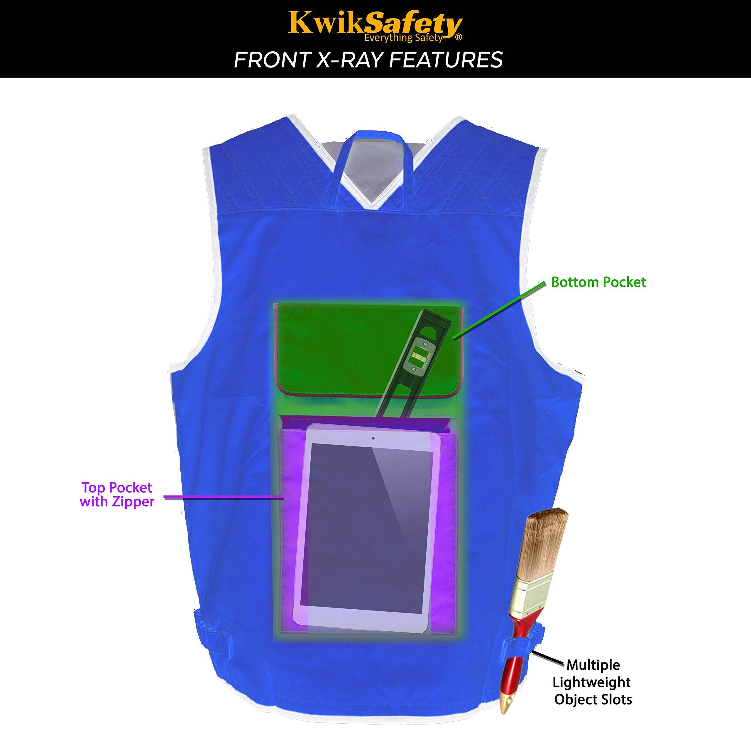 KwikSafety (Charlotte, NC) ARTISAN Tool Vest | Reflective Multi Pocket Lightweight Work Wear | Hi Vis Volunteer Emergency Crew Surveyor Carpenter Electrician Engineer | Men Women Regular | 4XL/5XL by KwikSafety (Image #7)