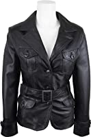 UNICORN Womens Fashion Leather Jacket Made With Black Soft Touch Leather #EG