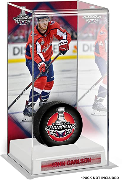 6d46465d443 John Carlson Washington Capitals 2018 Stanley Cup Champions Logo Deluxe  Tall Hockey Puck Case - Hockey