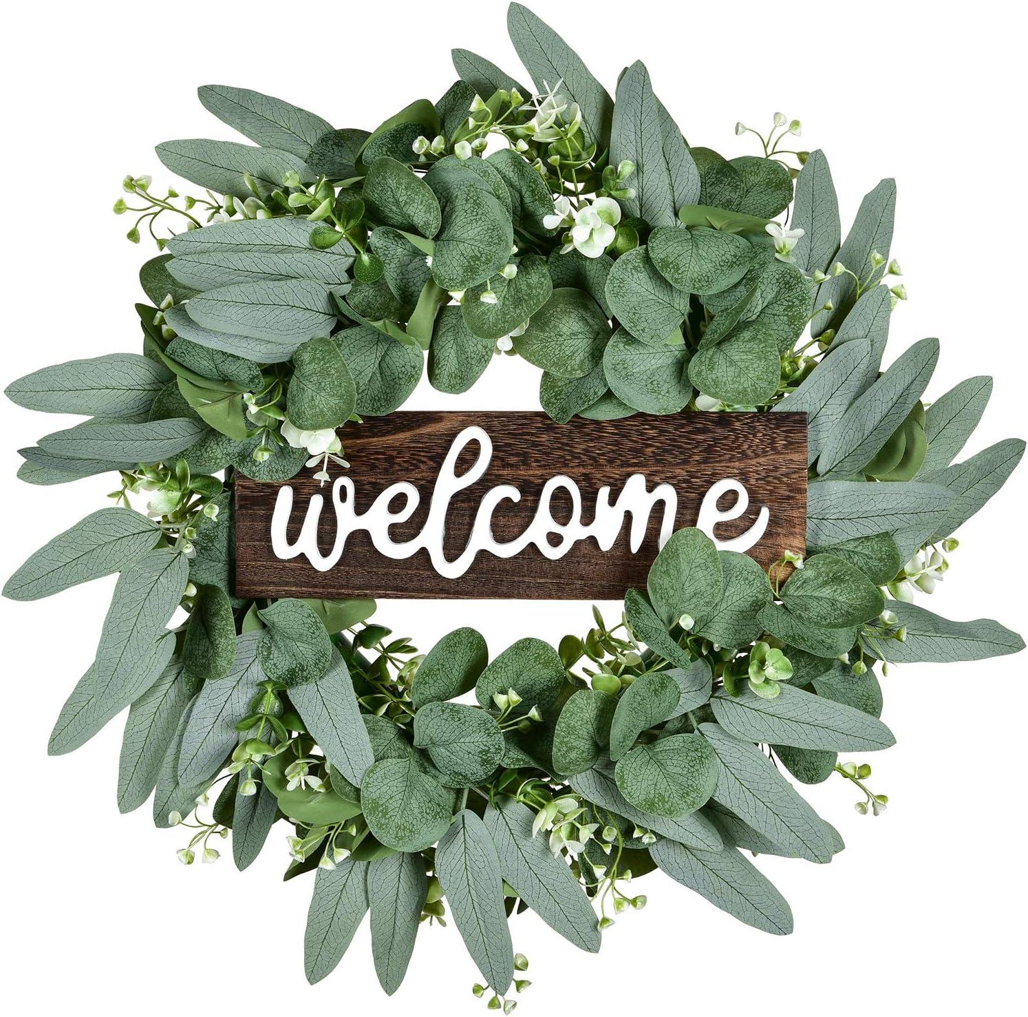 Lvydec Artificial Eucalyptus Wreath - 16