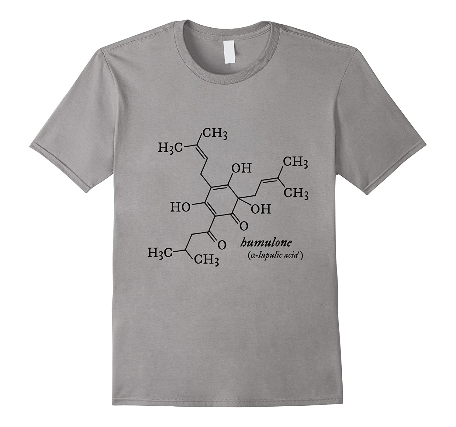 Humulone Molecule Geeky Beer Brewing Science T-shirt